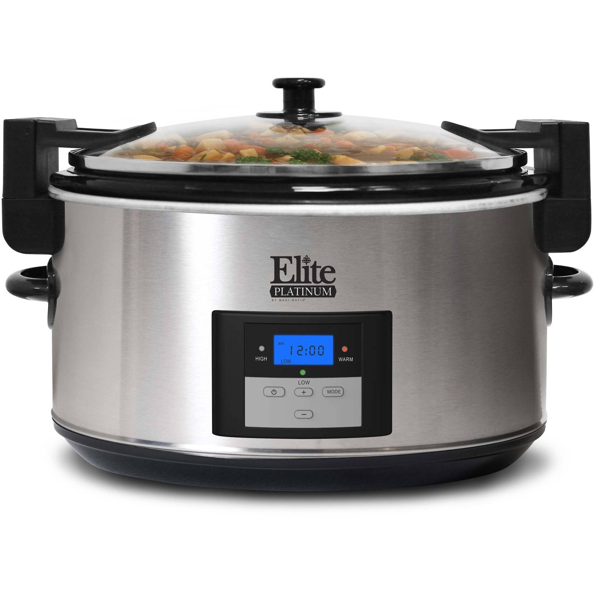 Elite Platinum MST-900VXD 8.5-Quart Stainless Steel Programmable Slow Cooker with Locking Lid