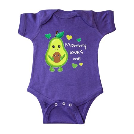 Mommy Loves Me with Avocado Baby and Green Hearts Infant Creeper