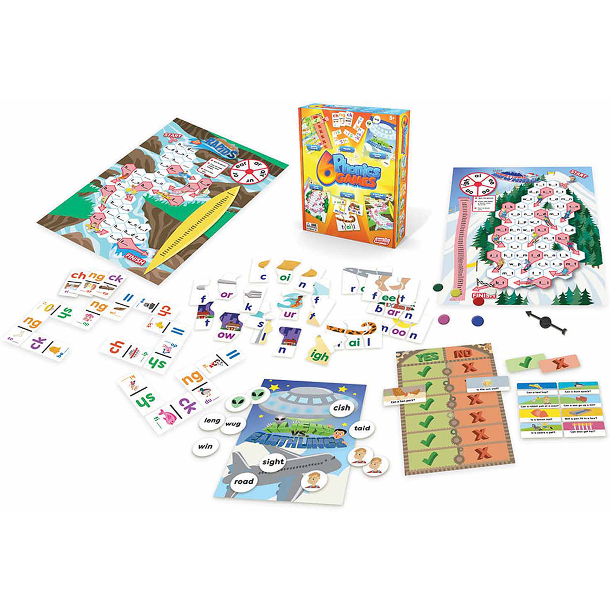 Junior Learning Phonics Games, Set of 6 Different Games