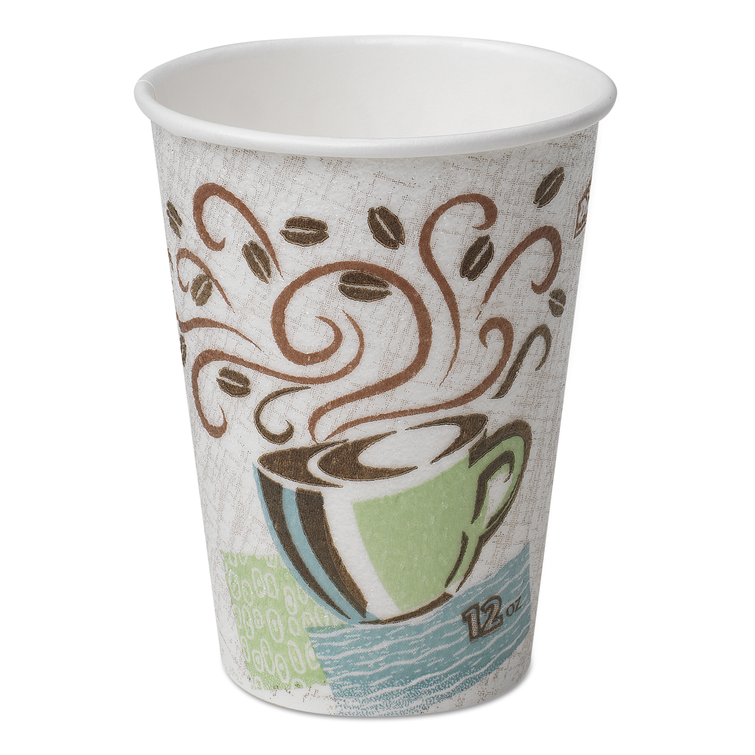 dixie coffee dreams design perfectouch 12 ounce paper hot cups