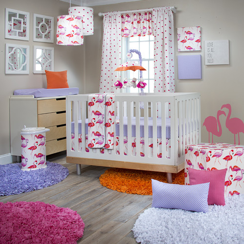 Glenna Jean Lilly and Flo 3 Piece Crib Bedding Set