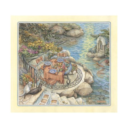 Seaside Terrace Print Wall Art By Kim Jacobs (Seaside Terrace)