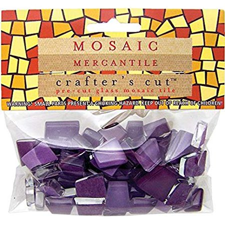 Mosaic Mercantile - Crafter's Cut Pre-Cut Mosaic Tiles - Tonal Mixes - Wildflower Mix, 1/3 lb. Bag