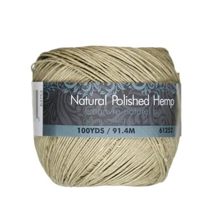 Cousin Natural Thin Polished Hemp, 100 Yd.