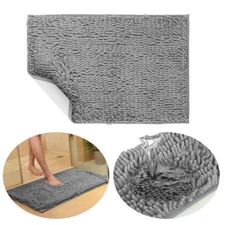 60x40cm Bath Rugs Extra Soft and Absorbent Microfiber Shag Rug, Non-Slip Runner Carpet for Tub Bathroom Shower Mat, Machine-Washable Durable Bedroom Rugs ()