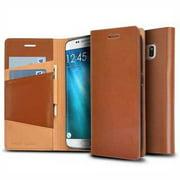 Refurbished Galaxy S7 Edge Case, Ringke [SIGNATURE] Genuine Leather Case [3 ID / Card Slot] Handcrafted Premium Folio Multi Executive Travel
