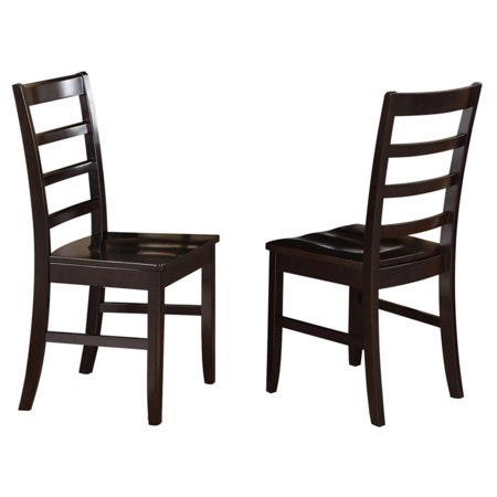 Enjoyable East West Furniture Parfait Ladder Back Dining Chair With Wooden Seat Set Of 2 Gmtry Best Dining Table And Chair Ideas Images Gmtryco