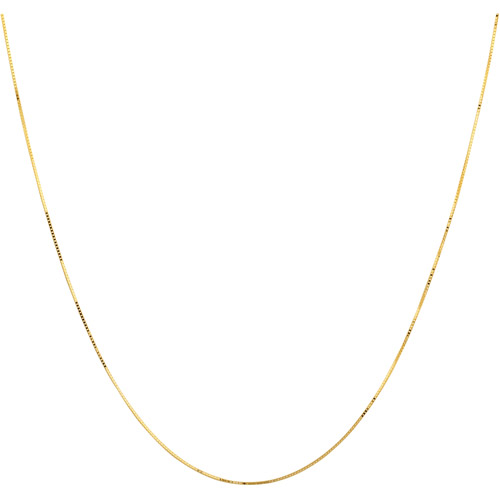 """Simply Gold 10kt Yellow Gold 038 Gauge Box Chain, 18"""""""