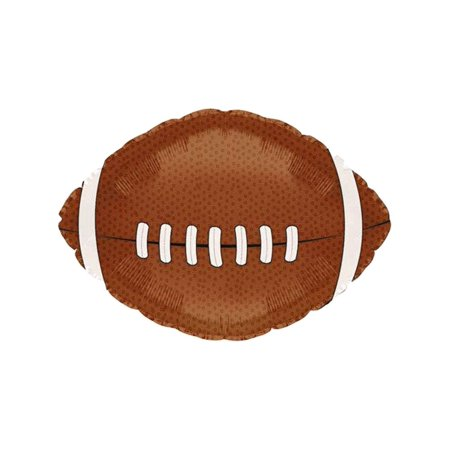 Football Balloon (18 Inch Mylar) Pkg/10