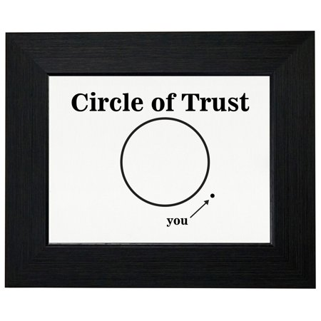 Circle Of Trust - & You're Outside Of It - Hilarious Framed Print Poster Wall or Desk Mount Options ()