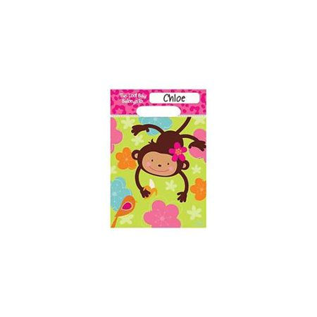 Pink Mod 'Monkey Love' Favor Bags (8ct)