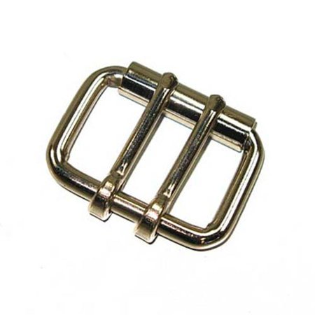 "2 Prong Roller Buckle 1.5"" Double Prong Leather Belt and Strap Buckle"