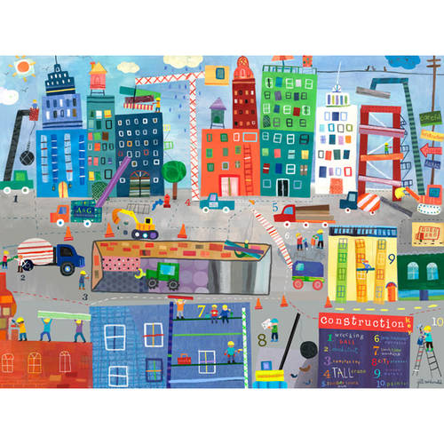 Oopsy Daisy's Construction Zone Canvas Wall Art, Size 24x18