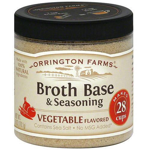 Orrington Farms Vegetable Flavored Broth Base & Seasoning, 6 oz (Pack of 6)