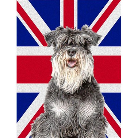 Schnauzer with English Union Jack British Flag Flag Garden Size - image 1 of 1
