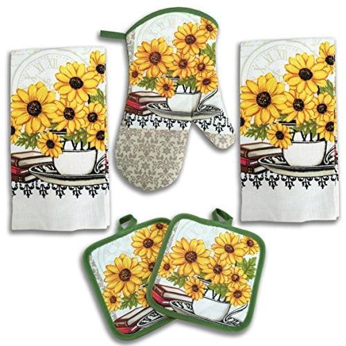 Sunflower Kitchen Decor 5 Piece Linen Set Walmart Com Walmart Com