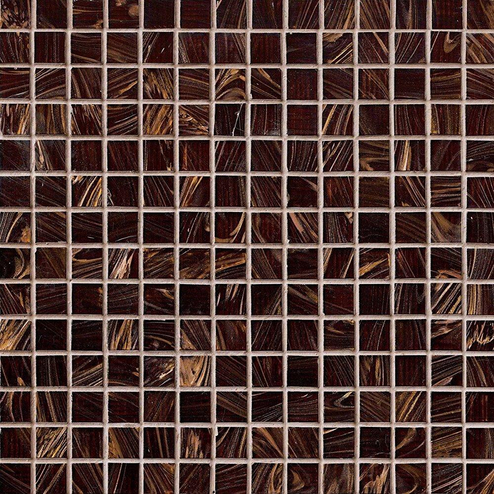 m s international brown iridescent 12 in. x 12 in. x 4mm glass mesh-mounted mosaic tile, (20 sq. ft., 20 pieces per case)