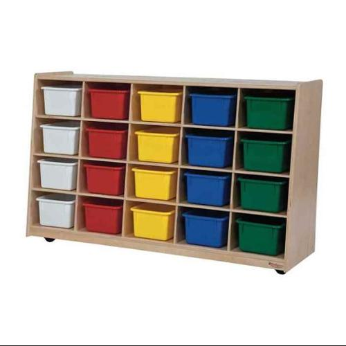 Kid's Play Tip-Me-Not 20 Tray Storage Unit w Assorted Trays