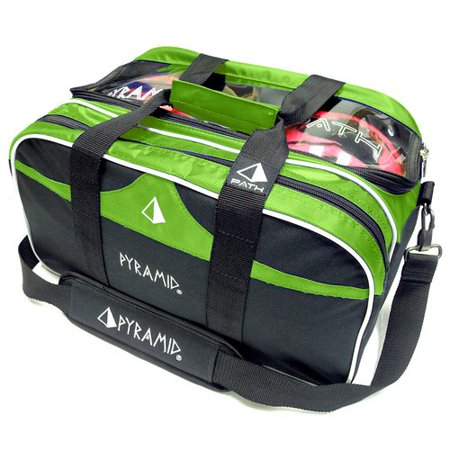 Pyramid Path Double Tote Plus Clear Top Bowling Bag Holds Shoes