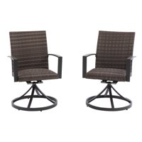Coral Coast Chisholm All Weather Wicker Outdoor Swivel Dining Chair - Set of 2