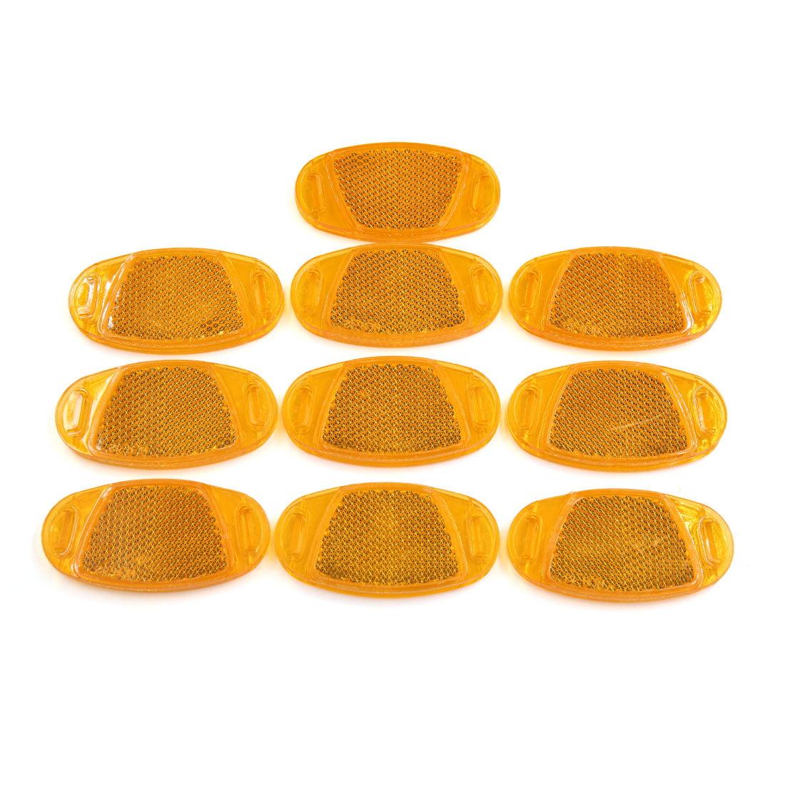 10pcs Orange Oval Plastic Spoke Reflective Warning Reflector for Bike Bicycle
