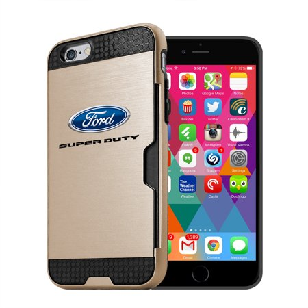Ford Super Duty Iphone 6 6S Ultra Thin Tpu Golden Phone Case With Credit Card Slot Wallet