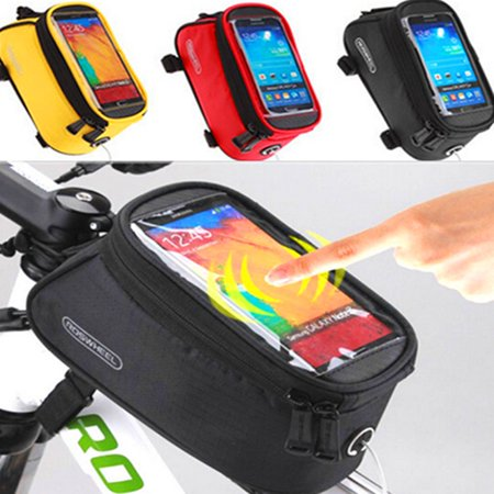 Universal Cycling Bike Bicycle Front Frame Bag Sports & Outdoors Pouch Phone Holder Case 3 Colors