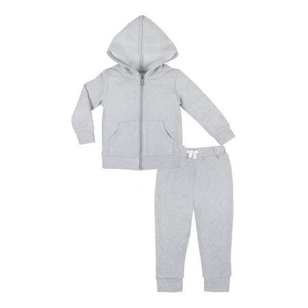 Pure Organic True Brights Hoodie & Jogger Pants Set, 2 Pc (Baby Girls & Toddler Girls, Baby Boys & Toddler Boys, Unisex)](Girl Joker)