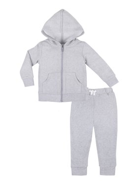 Little Star Organic True Brights Hoodie & Jogger Pants Set, 2 Pc (Baby Girls & Toddler Girls, Baby Boys & Toddler Boys, Unisex)