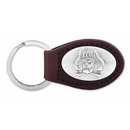 East Carolina Leather Key Fob (Brown)