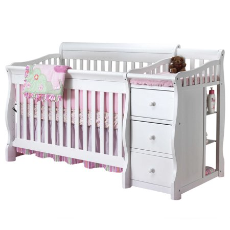 Sorelle Tuscany 4 In 1 Convertible Crib And Changer White