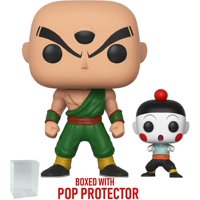 Funko Pop! Anime: Dragon Ball Z - Chiaotzu & Tien Vinyl Figure (Bundled with Pop Box Protector Case)