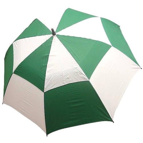 JP Lann Double Canopy Golf Umbrella, Black/White