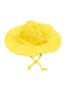 Leveret Kids Baby Boys Girls Sun Protection Swim Brim Hat Yellow Size 9-18 Months