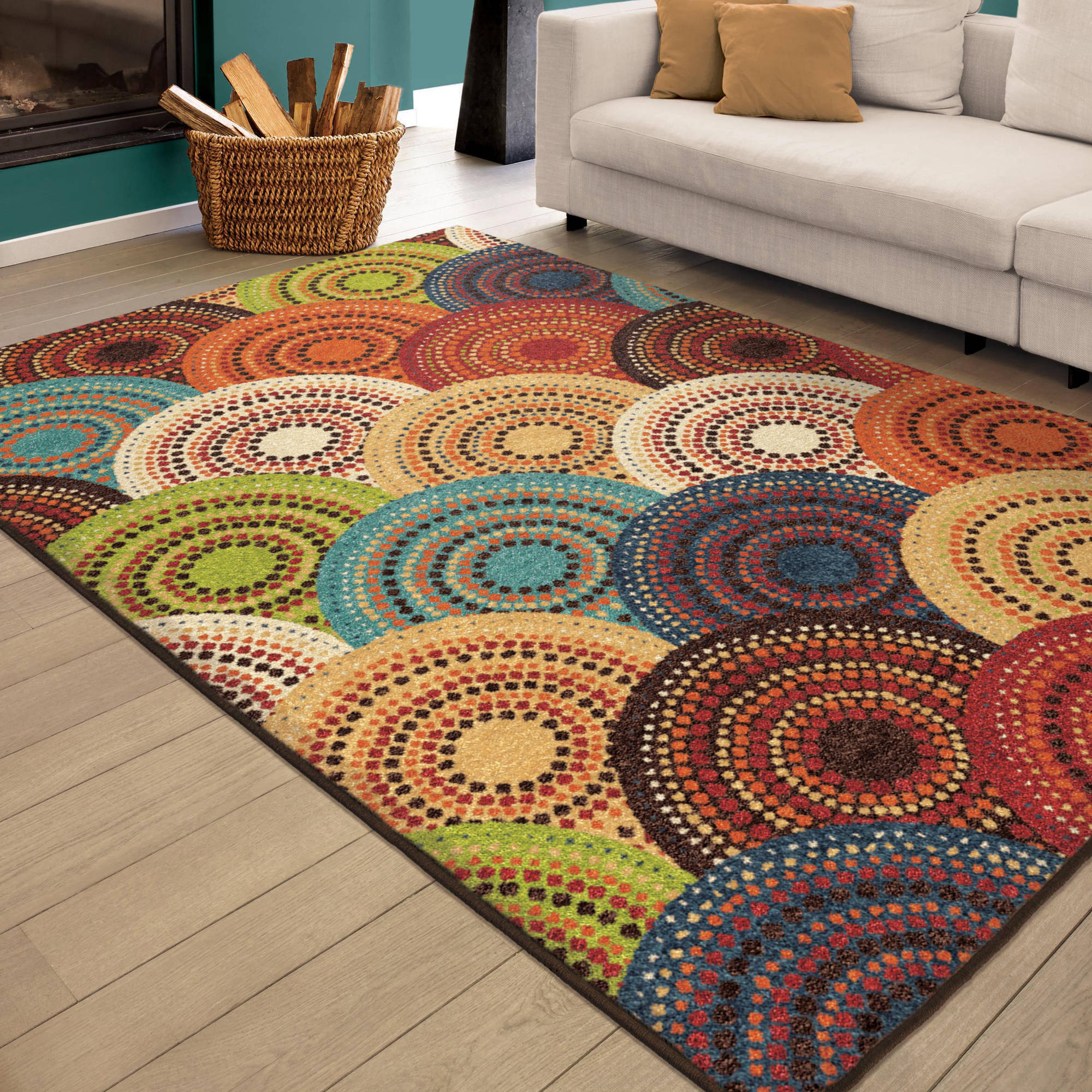 Better Homes and Gardens Bright Dotted Circles Multi Area Rug