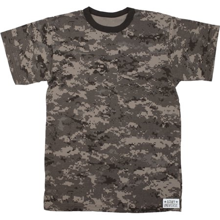 Army Universe - Subdued Urban Digital Camouflage Short Sleeve T-Shirt with ARMY  UNIVERSE Pin - Size 2X-Large (49