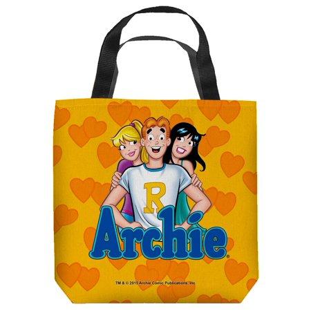 Archie Comics Cartoon Comic Books Betty & Veronica Love Triangle Tote - Book Tote