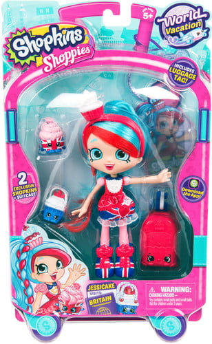 Shopkins Series 8 Wave 1 Doll Europe Jessicake: Shoppies WorldVacation Themed Dolls by MOOSE TOYS