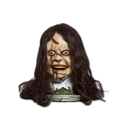Exorcist Rotating Head Platter w/Light Up Eyes, Moving Mouth & Audio - Halloween Exorcist Remix