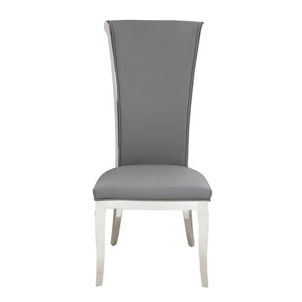 Tall Rolled Back Side Chair In Gray Set Of 2 Walmart Com Walmart Com
