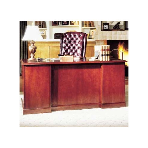 High Point Furniture Legacy Double Pedestal Executive Desk with 1 Box and 1 File Drawer