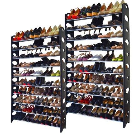 Zimtown 2X Shoe Rack Shelf Closet Organizer Hpme