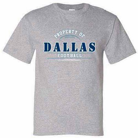Dallas Football 'Property of' T-Shirt - High School Football Tshirt Designs