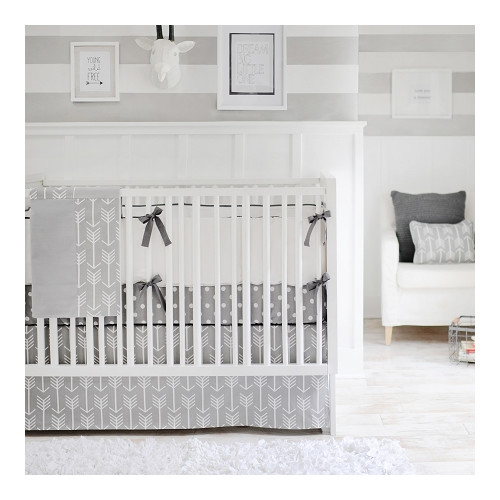 New Arrivals Wanderlust Arrow 4 Piece Crib Bedding Set