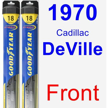 1970 Cadillac DeVille Wiper Blade Set/Kit (Front) (2 Blades) - Hybrid