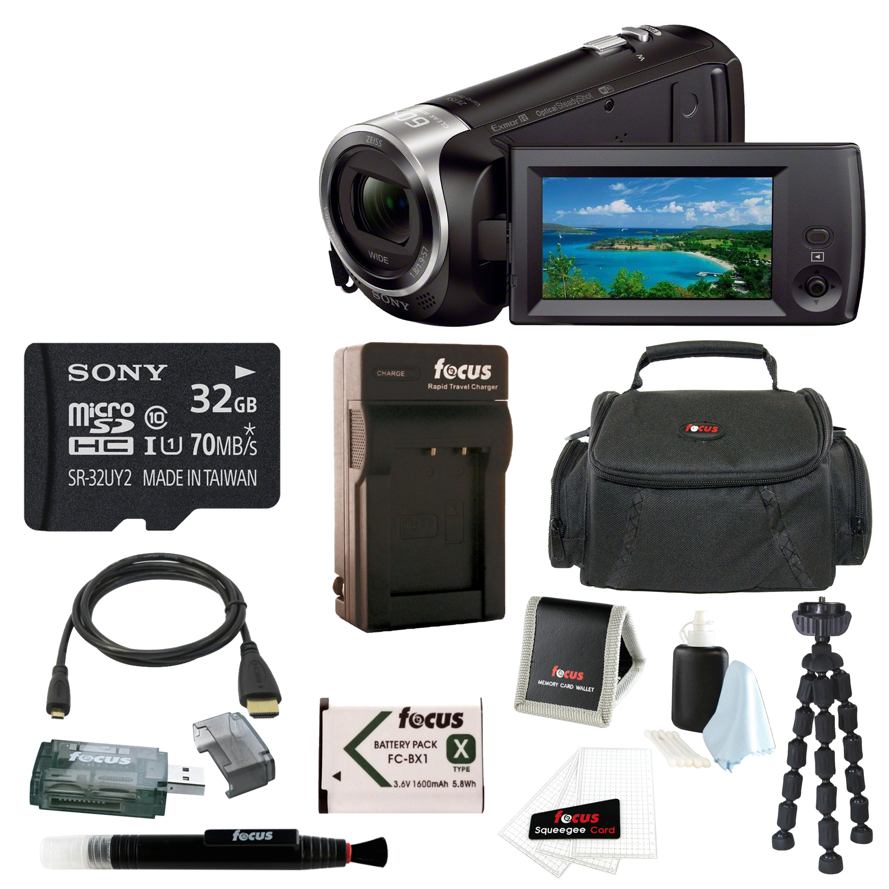 Sony HD Video Recording HDRCX440 Handycam Camcorder with ...