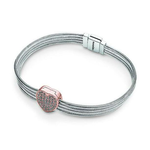 Pandora Reflexions Pave Heart Bracelet Gift Set