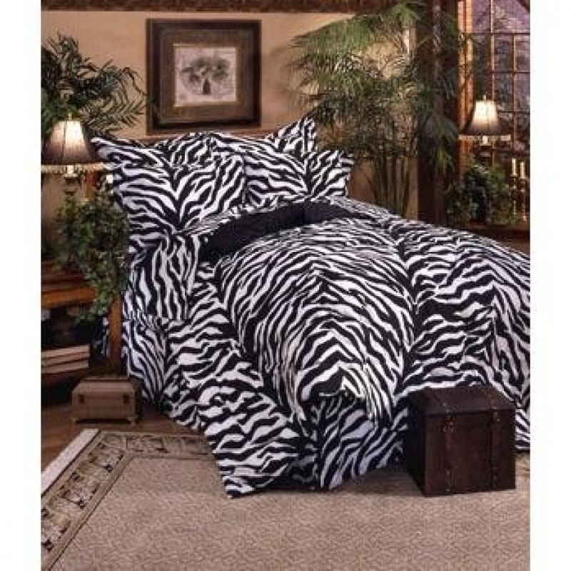 Kimlor Zebra Print Bed-In-A-Bag Set Z339