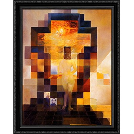 abraham lincoln 28x36 large black ornate wood framed canvas art by salvador dali - Wood Frames For Canvas Paintings