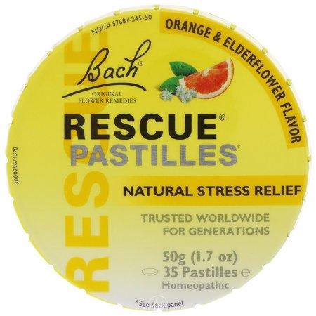 Bach Flower Essences Rescue Remedy Pastilles Orange 50 Gm, Pack of 2 Bach Rescue Remedy Flower Essence